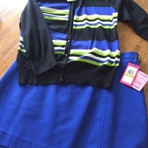 Skirt Sweater Cardigan Set